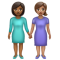 Women Holding Hands: Medium-Dark Skin Tone, Medium Skin Tone on WhatsApp 2.20.206.24