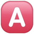 A Button (Blood Type) on WhatsApp 2.21.16.20
