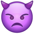 Angry Face with Horns on WhatsApp 2.21.16.20