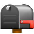 Closed Mailbox with Lowered Flag on WhatsApp 2.21.16.20