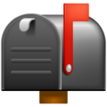 Closed Mailbox with Raised Flag on WhatsApp 2.21.16.20
