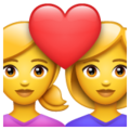 Couple with Heart: Woman, Woman on WhatsApp 2.21.16.20
