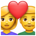 Couple with Heart on WhatsApp 2.21.16.20
