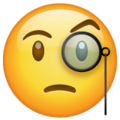 Face with Monocle on WhatsApp 2.21.16.20