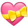 Heart with Ribbon on WhatsApp 2.21.16.20