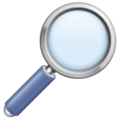 Magnifying Glass Tilted Right on WhatsApp 2.21.16.20