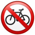 No Bicycles on WhatsApp 2.21.16.20
