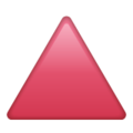 Red Triangle Pointed Up on WhatsApp 2.21.16.20