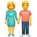 Woman and Man Holding Hands on WhatsApp 2.21.16.20
