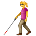 Woman with White Cane on WhatsApp 2.21.16.20