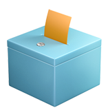 Ballot Box with Ballot on Apple iOS 11.1