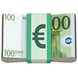 Euro Banknote on Apple iOS 11.1
