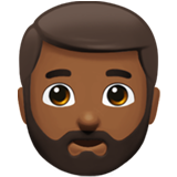 Man: Medium-Dark Skin Tone, Beard on Apple iOS 11.1