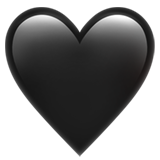 Black Heart on Apple iOS 11.1