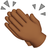 Clapping Hands: Medium-Dark Skin Tone on Apple iOS 11.1