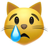 Crying Cat on Apple iOS 11.1