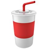 Cup with Straw on Apple iOS 11.1