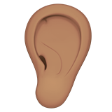 Ear: Medium Skin Tone on Apple iOS 11.1