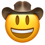 Cowboy Hat Face on Apple iOS 11.1