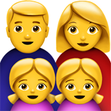 Family: Man, Woman, Girl, Girl on Apple iOS 11.1