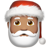 Santa Claus: Medium Skin Tone on Apple iOS 11.1