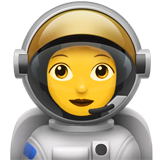 Woman Astronaut on Apple iOS 11.1