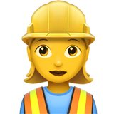 Woman Construction Worker on Apple iOS 11.1