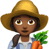 Woman Farmer: Medium-Dark Skin Tone on Apple iOS 11.1