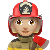 Woman Firefighter: Medium-Light Skin Tone on Apple iOS 11.1