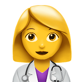 Woman Health Worker on Apple iOS 11.1