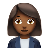 Woman Office Worker: Medium-Dark Skin Tone on Apple iOS 11.1