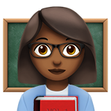 Woman Teacher: Medium-Dark Skin Tone on Apple iOS 11.1