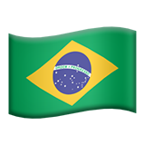 Flag: Brazil on Apple iOS 11.1