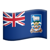 Flag: Falkland Islands on Apple iOS 11.1