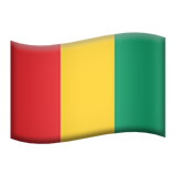 Flag: Guinea on Apple iOS 11.1