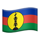 Flag: New Caledonia on Apple iOS 11.1