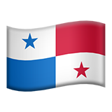 Flag: Panama on Apple iOS 11.1