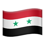 Flag: Syria on Apple iOS 11.1