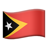 Flag: Timor-Leste on Apple iOS 11.1