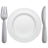 Fork and Knife with Plate on Apple iOS 11.1