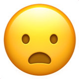 Frowning Face with Open Mouth on Apple iOS 11.1