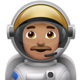 Man Astronaut: Medium Skin Tone on Apple iOS 11.1