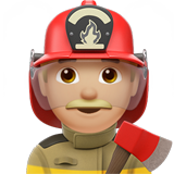 Man Firefighter: Medium-Light Skin Tone on Apple iOS 11.1