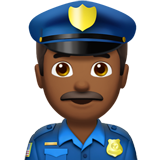 Man Police Officer: Medium-Dark Skin Tone on Apple iOS 11.1