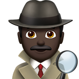Man Detective: Dark Skin Tone on Apple iOS 11.1