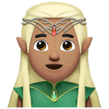 Man Elf: Medium Skin Tone on Apple iOS 11.1