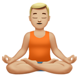 Man in Lotus Position: Medium-Light Skin Tone on Apple iOS 11.1