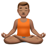 Man in Lotus Position: Medium Skin Tone on Apple iOS 11.1