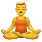 Man in Lotus Position on Apple iOS 11.1