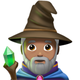 Man Mage: Medium Skin Tone on Apple iOS 11.1